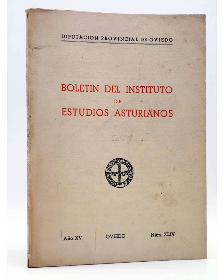 Cubierta de BOLETÍN DEL INSTITUTO DE ESTUDIOS ASTURIANOS AÑO X NÚM XLIV (Vvaa) Diputación de Asturias 1961