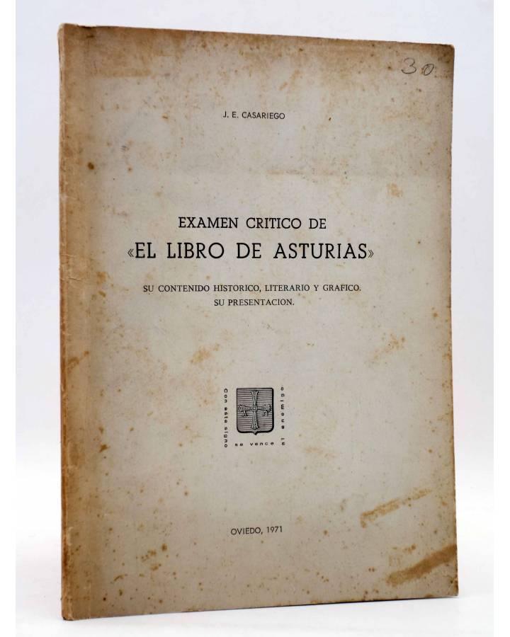Cubierta de EXÁMEN CRÍTICO DE EL LIBRO DE ASTURIAS. SU CONTENIDO HISTÓRICO LITERARIO Y GRÁFICO (J.E. Casariego) 1971