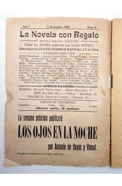Muestra 1 de LA NOVELA CON REGALO AÑO I Nº 8. POR UN COLLAR DE DIAMANTES (Diego San José) Valencia 1916