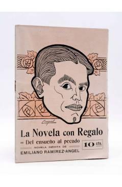 Cubierta de LA NOVELA CON REGALO AÑO II Nº 12. DEL ENSUEÑO AL PECADO (Emiliano Ramírez-Ángel) Valencia 1917