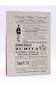 Contracubierta de LA NOVELA CON REGALO AÑO II Nº 12. DEL ENSUEÑO AL PECADO (Emiliano Ramírez-Ángel) Valencia 1917