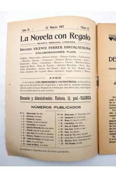 Muestra 1 de LA NOVELA CON REGALO AÑO II Nº 12. DEL ENSUEÑO AL PECADO (Emiliano Ramírez-Ángel) Valencia 1917