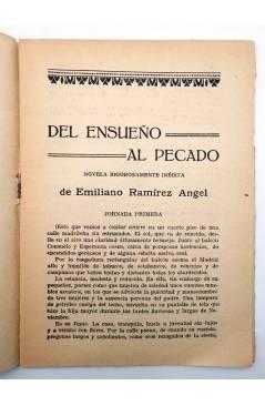 Muestra 2 de LA NOVELA CON REGALO AÑO II Nº 12. DEL ENSUEÑO AL PECADO (Emiliano Ramírez-Ángel) Valencia 1917