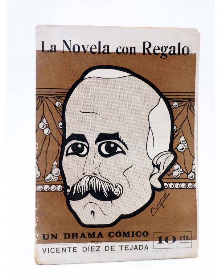 Cubierta de LA NOVELA CON REGALO AÑO II Nº 13. UN DRAMA CÓMICO (Vicente Díez De Tejada) Valencia 1917