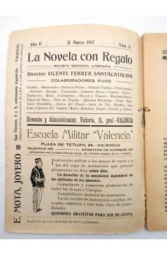Muestra 1 de LA NOVELA CON REGALO AÑO II Nº 13. UN DRAMA CÓMICO (Vicente Díez De Tejada) Valencia 1917