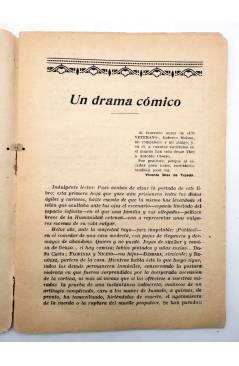Muestra 2 de LA NOVELA CON REGALO AÑO II Nº 13. UN DRAMA CÓMICO (Vicente Díez De Tejada) Valencia 1917
