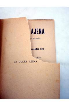Muestra 1 de LA CULPA AJENA. COMEDIA EN DOS ACTOS (Alberto Insúa / A. Hernández Catá) Sociedad de Autores Españoles 1916
