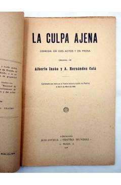 Muestra 2 de LA CULPA AJENA. COMEDIA EN DOS ACTOS (Alberto Insúa / A. Hernández Catá) Sociedad de Autores Españoles 1916