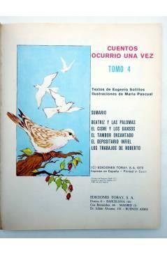 Muestra 1 de CUENTOS OCURRIÓ UNA VEZ TOMO 4 (Eugenio Sotillos / María Pascual) Toray 1975