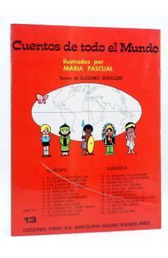 Contracubierta de CUENTOS DE TODO EL MUNDO SERIE B 13. EL GAUCHO Y EL PAYADOR (Sotillos / María Pascual) Toray 1975