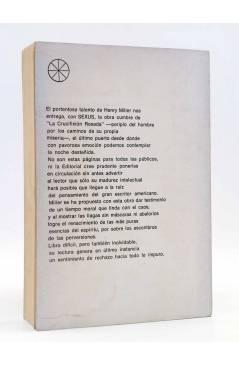 Contracubierta de LA CRUCIFIXIÓN ROSADA 1. SEXUS (Henry Miller) Rueda 1968