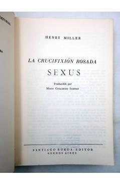 Muestra 1 de LA CRUCIFIXIÓN ROSADA 1. SEXUS (Henry Miller) Rueda 1968
