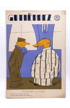 Contracubierta de GUTIÉRREZ SEMANARIO ESPAÑOL DE HUMORISMO AÑO VII. Nº 335 (Vvaa) Madrid 1933