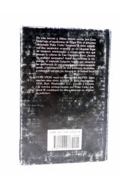 Contracubierta de MUERTE IMPROVISADA (Edgar Box - Gore Vidal) Edhasa 1987