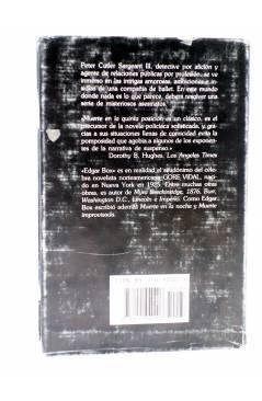 Contracubierta de MUERTE EN LA QUINTA POSICIÓN (Edgar Box - Gore Vidal) Edhasa 1986