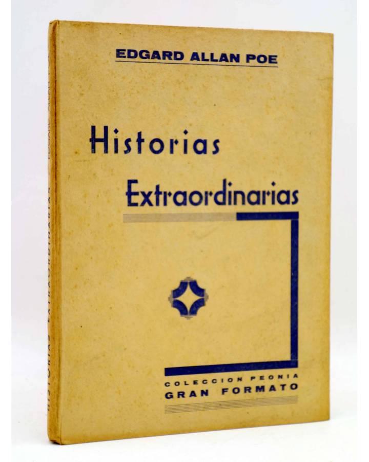 Cubierta de COLECCIÓN PEONIA GRAN FORMATO. HISTORIAS EXTRAORDINARIAS (Edgar Allan Poe) Ediciones Ramos Circa 1950
