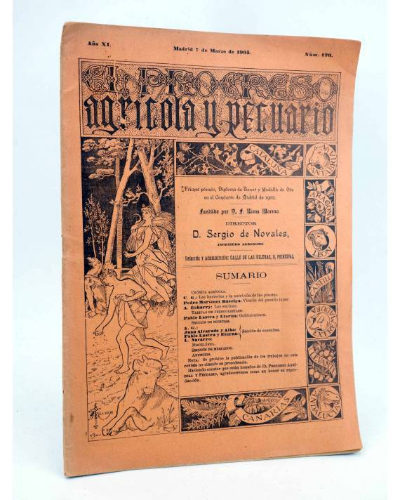 Cubierta de EL PROGRESO AGRICOLA Y PECUARIO AÑO IX Nº 426 (Vvaa) Madrid 1905