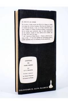 Contracubierta de UNA AVENTURA DEL PADRE BROWN 4. EL DIOS DE LOS GONGS (G. K. Chesterton) La Isla 1955