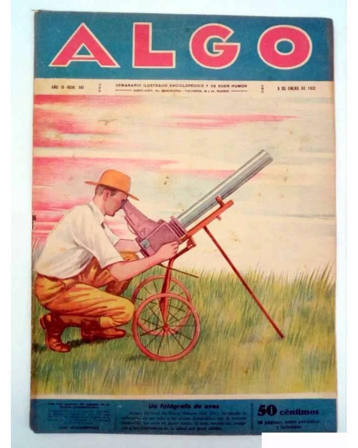 Cubierta de ALGO. SEMANARIO ILUSTRADO ENCICLOPÉDICO Y DE BUEN HUMOR AÑO IV. N.º 141. 9 ENERO 1932 (Vvaa) Algo 1932