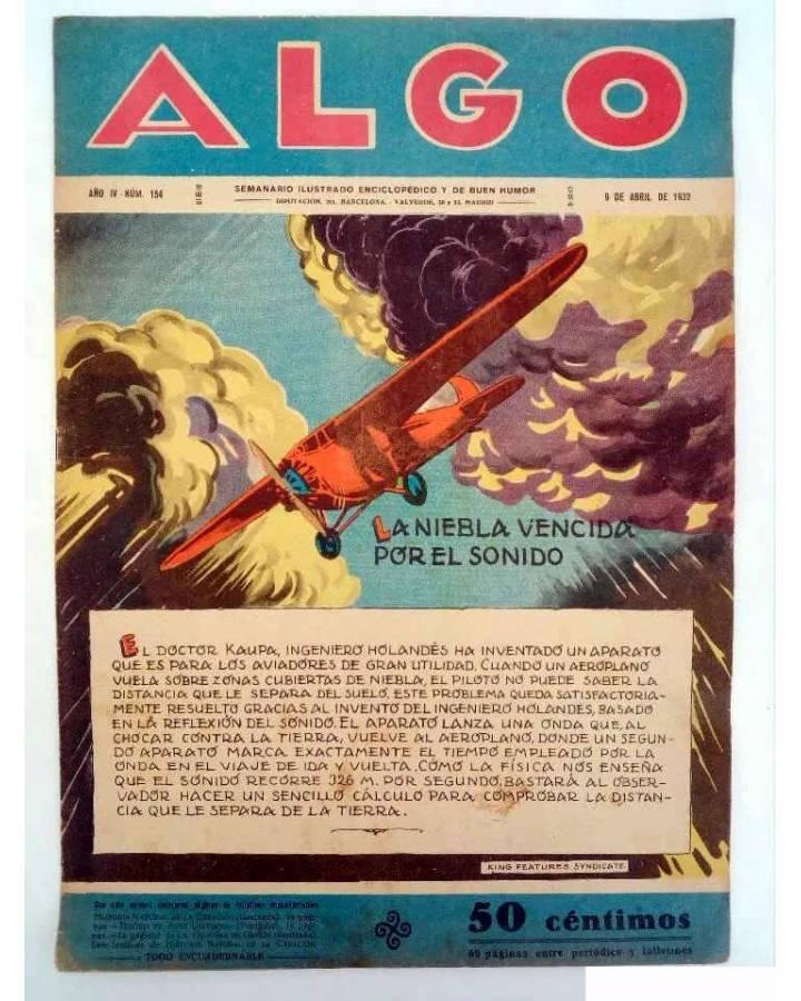 Cubierta de ALGO. SEMANARIO ILUSTRADO ENCICLOPÉDICO Y DE BUEN HUMOR AÑO IV. N.º 154. 9 ABRIL 1932 (Vvaa) Algo 1932