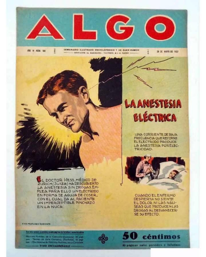Cubierta de ALGO. SEMANARIO ILUSTRADO ENCICLOPÉDICO Y DE BUEN HUMOR AÑO IV. N.º 161. 28 MAYO 1932 (Vvaa) Algo 1932