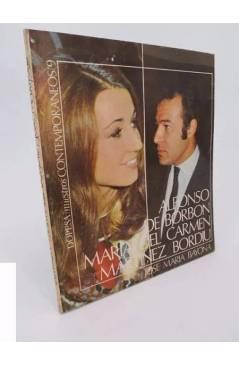 Cubierta de NUESTROS CONTEMPORÁNEOS 9. ALFONSO DE BORBÓN Y M.ª DEL CARMEN MARTÍNEZ BORDIU (Bayona) Dopesa 1971