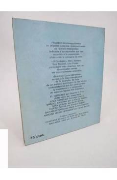 Contracubierta de NUESTROS CONTEMPORÁNEOS 9. ALFONSO DE BORBÓN Y M.ª DEL CARMEN MARTÍNEZ BORDIU (Bayona) Dopesa 1971