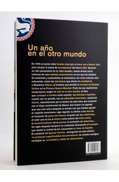 Contracubierta de UN AÑO EN EL OTRO MUNDO (Julio Camba) Rey Lear 2009