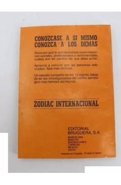 Contracubierta de GUIA ASTROLÓGICA PARA SU VIDA PROFESIONAL Y FAMILIAR. CONTIENE LOS 12 DIGNOS DEL ZODIACO.. Bruguera 19