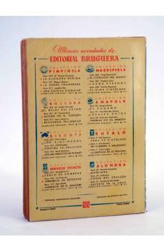 Contracubierta de COLECCIÓN MADREPERLA 246. LAZOS ETERNOS (Amparo Lara) Bruguera Bolsilibros 1953. CON DEDICATORIA