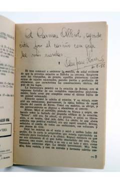 Muestra 1 de COLECCIÓN MADREPERLA 338. EL CIELO SOBRE NOSOTROS (Amparo Lara) Bruguera Bolsilibros 1955. CON DEDICATORIA