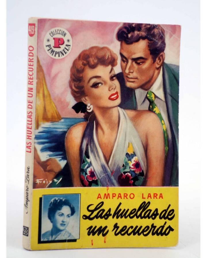 Cubierta de COLECCIÓN PIMPINELA 419. LAS HUELLAS DE UN RECUERDO (Amparo Lara) Bruguera Bolsilibros 1954. CON DEDICATORIA