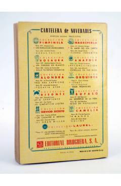 Contracubierta de COLECCIÓN PIMPINELA 419. LAS HUELLAS DE UN RECUERDO (Amparo Lara) Bruguera Bolsilibros 1954. CON DEDIC