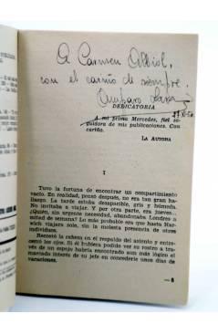 Muestra 1 de COLECCIÓN PIMPINELA 419. LAS HUELLAS DE UN RECUERDO (Amparo Lara) Bruguera Bolsilibros 1954. CON DEDICATORI