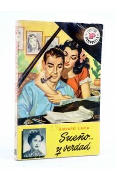 Cubierta de COLECCIÓN PIMPINELA 487. SUEÑO Y VERDAD (Amparo Lara) Bruguera Bolsilibros 1956. CON DEDICATORIA