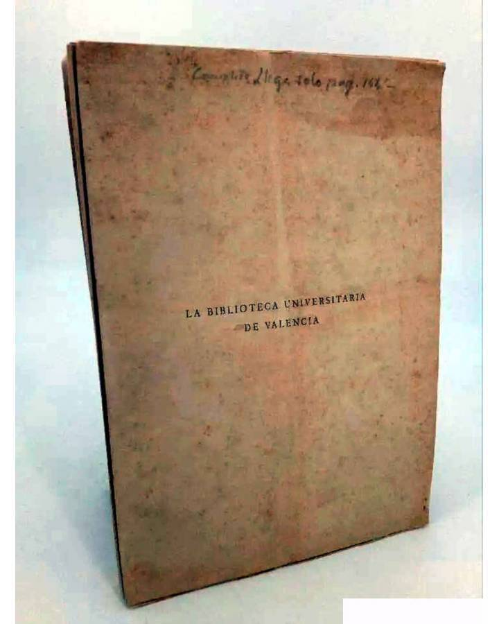 Cubierta de LA BIBLIOTECA UNIVERSITARIA DE VALENCIA (Fernando Llorca) Prometeo S/F