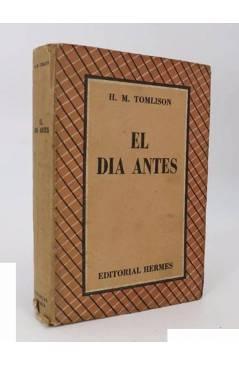 Cubierta de EL DÍA ANTES (H.M. Tomlison) Hermes 1949