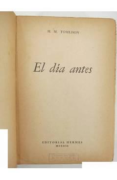 Muestra 1 de EL DÍA ANTES (H.M. Tomlison) Hermes 1949