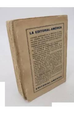 Contracubierta de BIBLIOTECA DE AUTORES CÉLEBRES. EL ÚLTIMO DE LOS GASTALDONES (Gian Dauli) América S/F