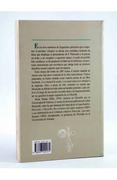 Contracubierta de BIBLIOTECA NIETZSCHE. EL NIHILISMO EUROPEO. FRAGMENTOS PÓSTUMOS (Friedrich Nietzsche) Biblioteca Nueva