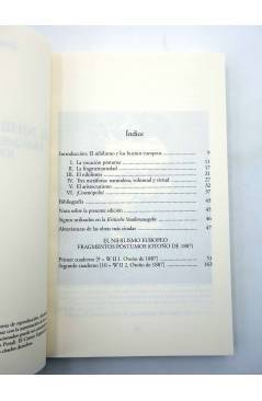 Muestra 1 de BIBLIOTECA NIETZSCHE. EL NIHILISMO EUROPEO. FRAGMENTOS PÓSTUMOS (Friedrich Nietzsche) Biblioteca Nueva 2006