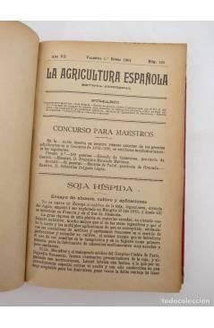 Muestra 3 de LA AGRICULTURA ESPAÑOLA. REVISTA QUINCENAL. AÑO 1904. NºS 129 a 152 encuadernados en un tomo. 24 NºS. 1904