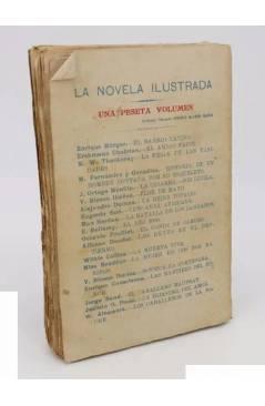 Contracubierta de LA NOVELA ILUSTRADA 18. LA HIJASTRA DEL AMOR (Jacinto O. Picón) Madrid S/F. Ilustraciones José Pedraza
