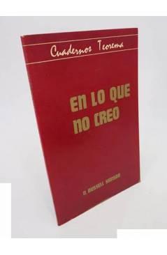 Cubierta de CUADERNOS TEOREMA 10. EN LO QUE NO CREO (N. Russell Hanson) Dep. Lógica y Filosofía de la Ciencia UV 1976