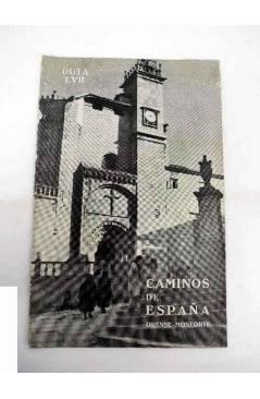 Cubierta de CAMINOS DE ESPAÑA. RUTA LVII. ORENSE / MONFORTE. Compañía Española de Penicilina 1961