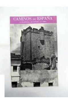 Cubierta de CAMINOS DE ESPAÑA. RUTA LXXII. DE PLASENCIA A ALCÁNTARA POR CORIA. Compañía Española de Penicilina 1962