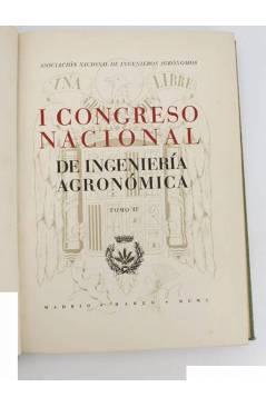 Contracubierta de I CONGRESO NACIONAL DE INGENIERÍA AGRONÓMICA. TOMO II. EXPLOTACIÓN: CULTIVOS DE SECANO.. Madrid 1950