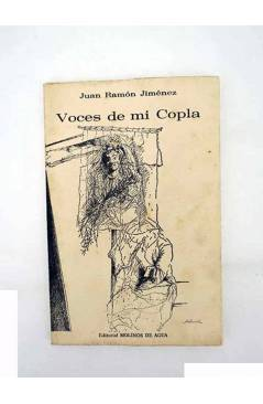 Contracubierta de ESPAÑA PEREGRINA 1. VOCES DE MI COPLA (Juan Ramón Jiménez) Molinos de Agua 1980