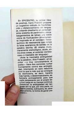 Muestra 1 de COLECCIÓN GULES POESÍA 7. EPICENTRO (Carlo Frabetti) Prometeo 1982