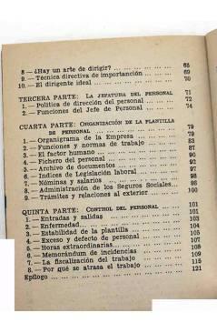 Muestra 2 de COLECCIÓN PRÁCTICA.. EL JEFE DE PERSONAL (Jaime Vicens Carrió) Bruguera 1956